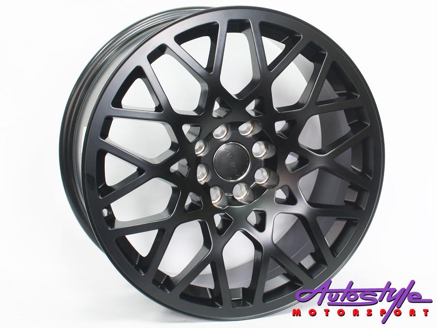 """17"""" AV236 4/100 & 4/114 Matt Black Alloy Wheels-0"""