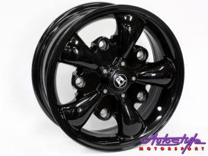 "15"" Evo WLF for Classic Beetle 5/205 Black Alloy Wheels-0"