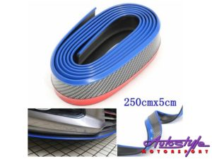 Universal Carbon Fibre & Blue Front spoiler-0