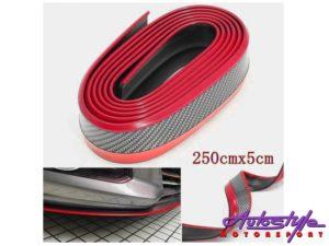 Universal Carbon Fibre & Red Front spoiler-0
