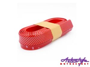 Universal Red Carbon Fibre Look Front Spoiler-0