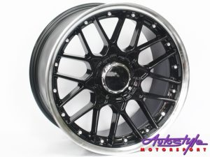 "17"" BSS-002 4/100 & 4/108 Black Narrow & Wide wheels-0"