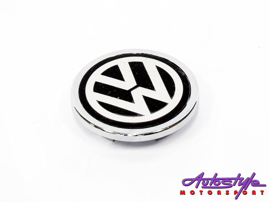 VW wheel center cap with flat style logo-0