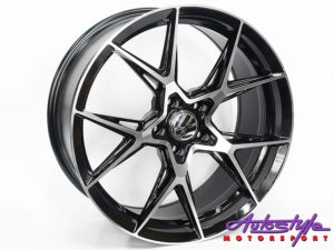 "19"" A-Line Exile 5/114 BKMF Alloy Wheels-0"