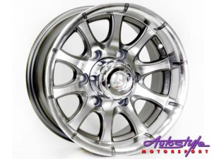 "15"" A-Line Rex 4/100 GMMF Alloy Wheels-0"