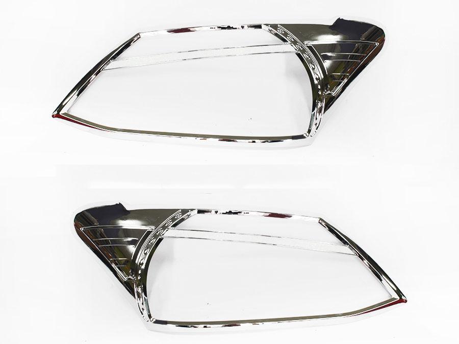Isuzu D-Max 2013+ Chrome headlight trim