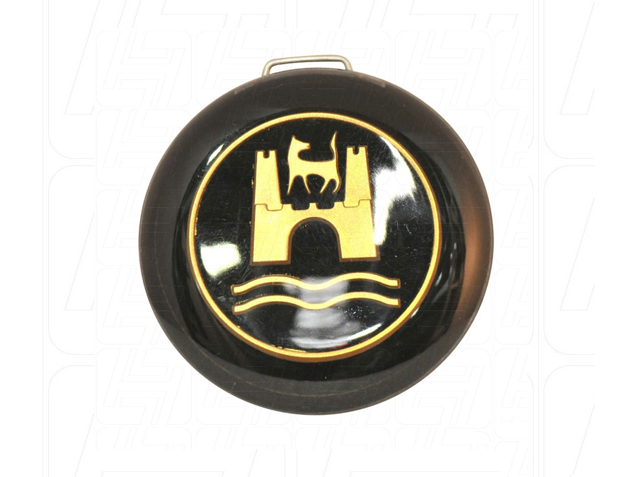 Hooter Button with Black & Gold Wolfsburg Crest