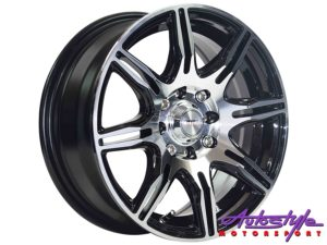 "17"" A-Line Indigo 4/100 & 4/108 BKMF Alloy Wheels-0"