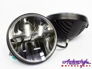 "Jeep 7"" LED Smoked Angel Eye Headlights -0"