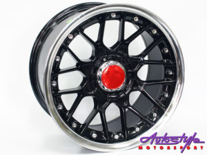 """17"""" OEW703 5/100 & 5/120 BLK Alloy Wheels-0"""