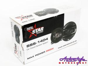 """Starsound SSS-1404 4"""" 3way Speakers-0"""