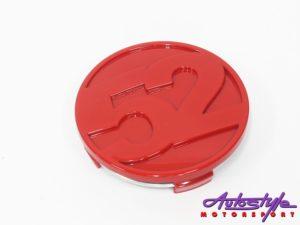 15/52 Gloss Red Wheel Center Cap (each)-0