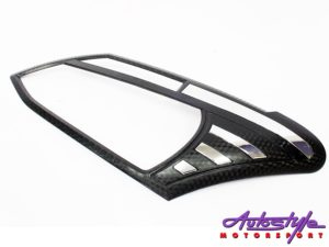 Isuzu D-Max 2013+ Carbon headlight trim (pair)-0
