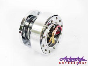 Quick Release Steering Wheel Hub (silver)-0
