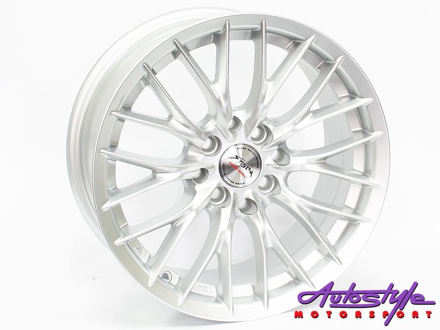 "15"" ST LW005 4/100 & 4/114 Silver Alloy Wheels-0"