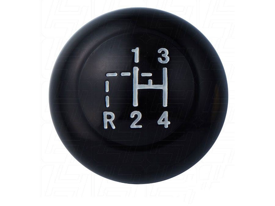 Vintage Speed Gear Knob with a Stock Shift Pattern finished in Black