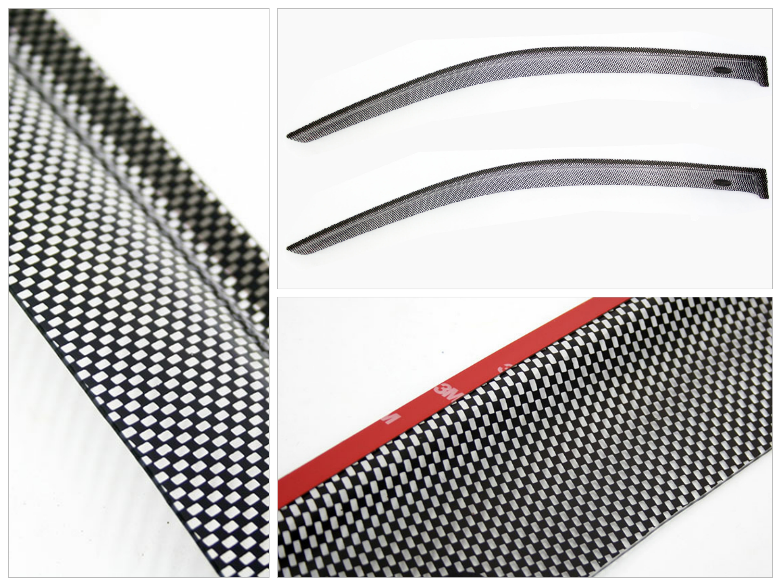 Carbon Look Windshields for Hyundai Accent 2012up