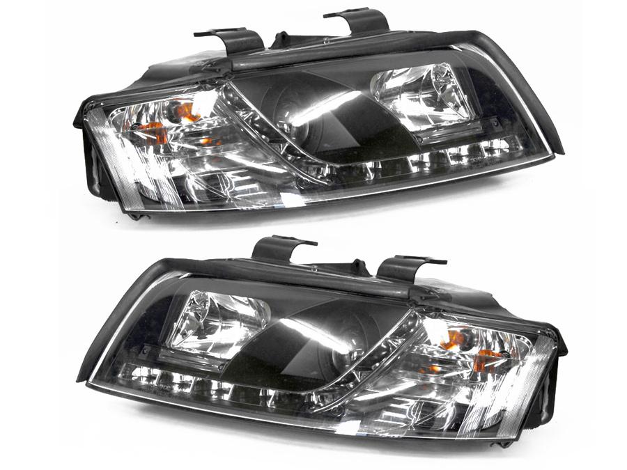Audi A4 01-04 B6 Angel Eye Smoke DRL Style Headlights (pair)