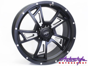 "20"" A-Line Conquer 6/139 STBLK Alloy Wheels-0"