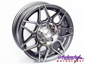 "13"" A-Line Alexis 4/100 & 4/108 GMMF Alloy Wheels-0"