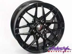 "14"" A-Line Element 4/100 & 4/108 BLK Alloy Wheels-0"