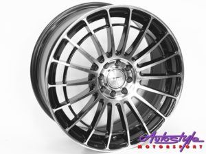 "17"" A-Line Linea 4/100 & 4/108 BKMF Alloy Wheels-0"