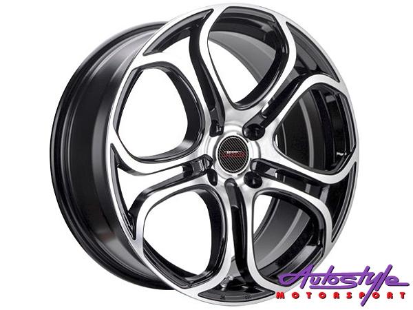 17″ A-Line Spunk 4/100 BKMF Alloy Wheels