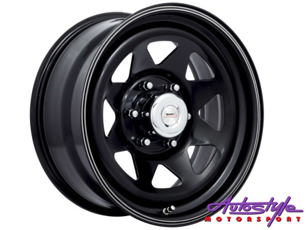 "15"" A-Line Spoke 6/139 STBK Alloy Wheels-0"