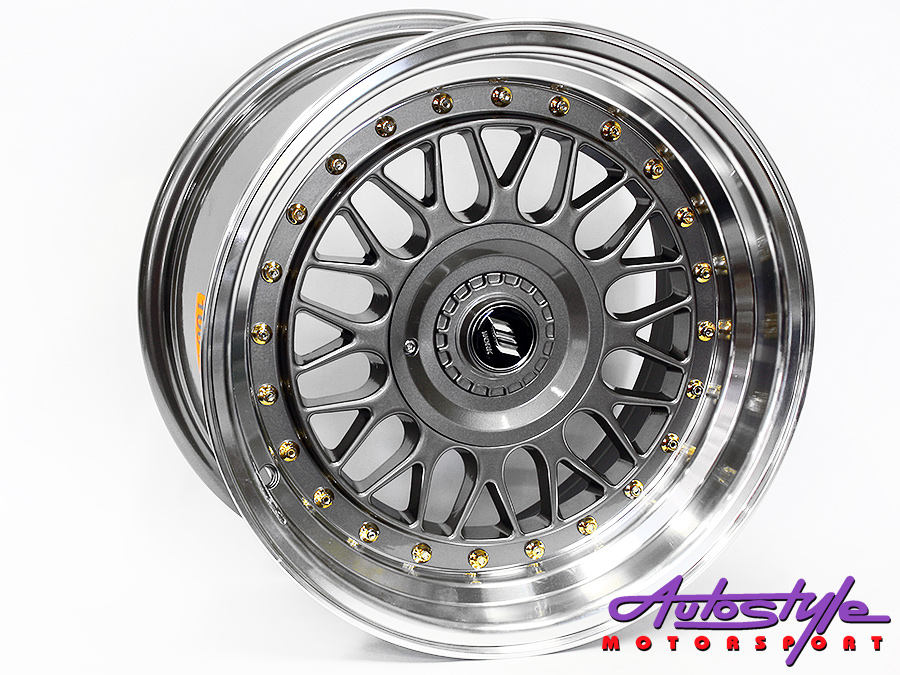 15″ Axe Blaze-C 4/100 & 4/108 GMML Alloy Wheels