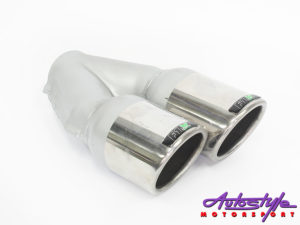 F1X Gti Style Bolt-on Tailpipe (76mm)-0