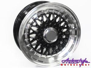 """14"""" Evo BSS 4/100 & 4/114 BLK Alloy Wheels-0"""