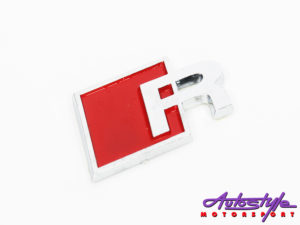 Audi R-Line Red badge-0