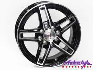"14"" ST Flash 4/100 & 4/114 BKMF Alloy Wheels-0"