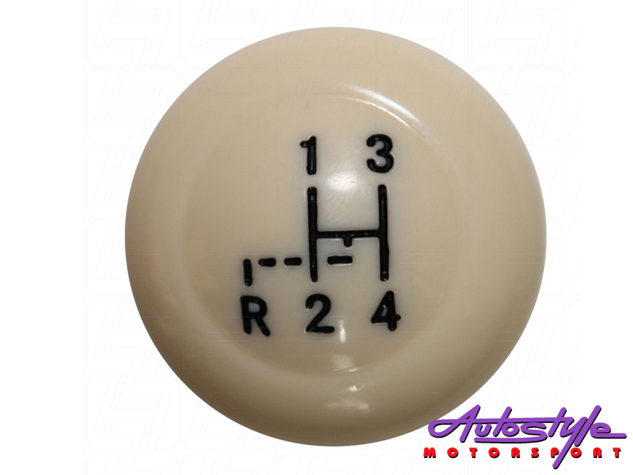 Vintage Speed Gear Knob with Stock Shift Pattern Ivory 10mm Thread -0