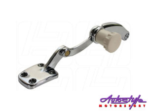VW Beetle Chrome Pop-out Latch with Beige Knob for Right Rear Quarter Window-0