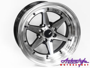 """15"""" Axe XR-4 4/100 & 4/114 BKMF Alloy Wheels-0"""
