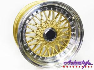 """16"""" BSS 4/100 & 4/114 Gold Alloy Wheels-0"""