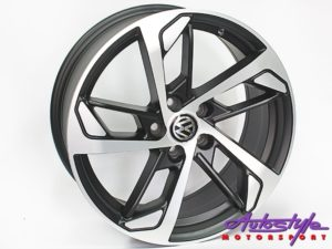 "15"" Evo CT1381 5/100 Matt Black Alloy Wheels-0"
