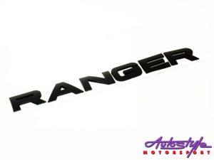 Ford Ranger Matt Black sticker badge (30cm)-0