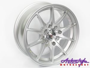 "14"" ST Polar 4/100 & 4/114 Silver Alloy Wheels-0"