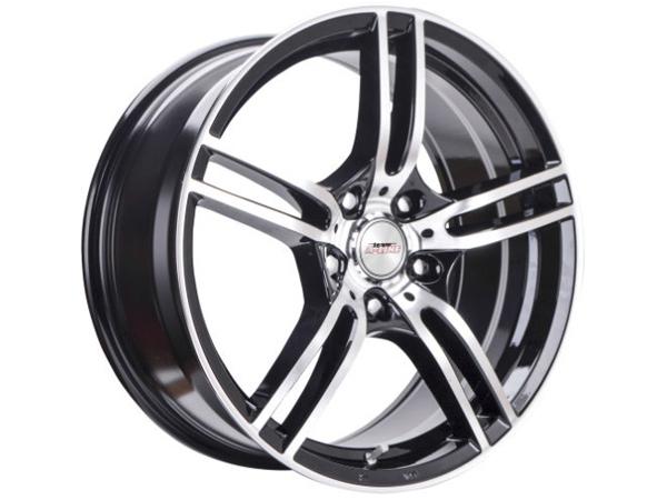 17″ A-line Destiny 4/100 BKMF Alloy Wheels