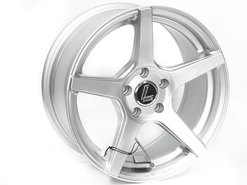 15″ Lenso Jagger 5/100 Silver Alloy Wheels