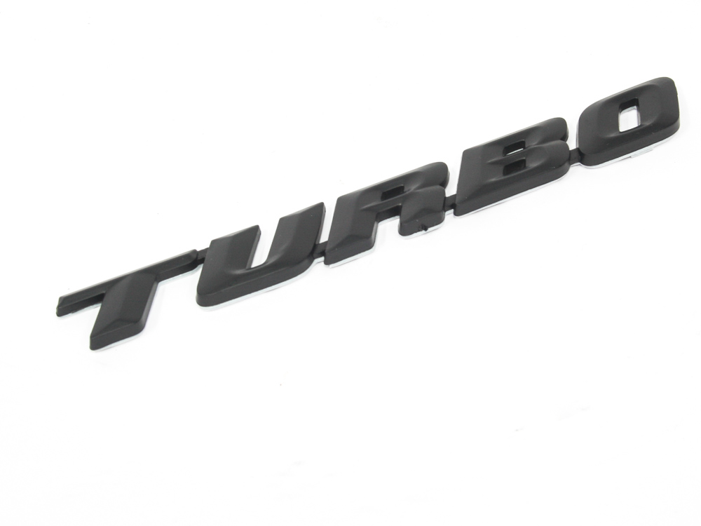 Turbo design black sticker badge (16cm)