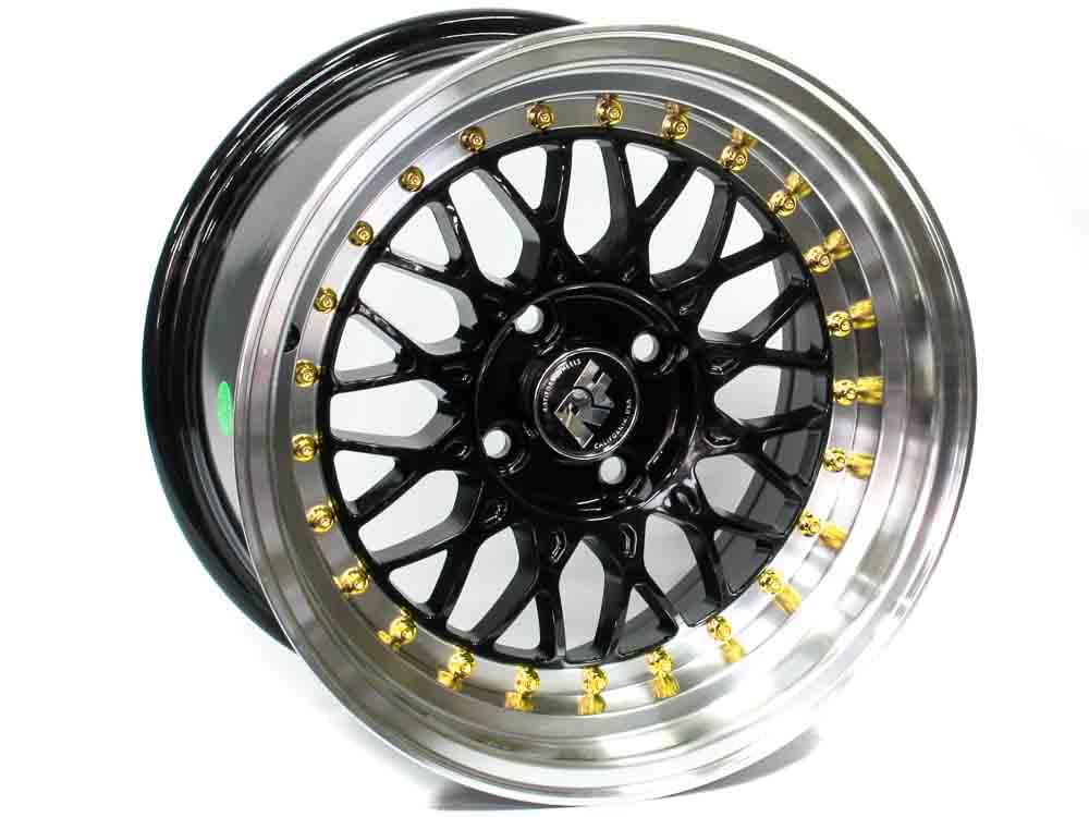 15″ Axe Pro XA 4/100 BML Gold Rivet Wheels