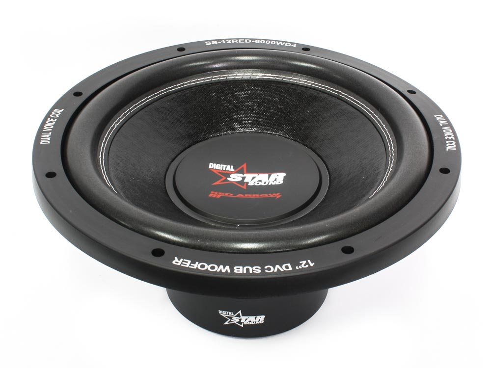 Starsound SS-12RED-6000DW 12″ 6000w DVC Subwoofer