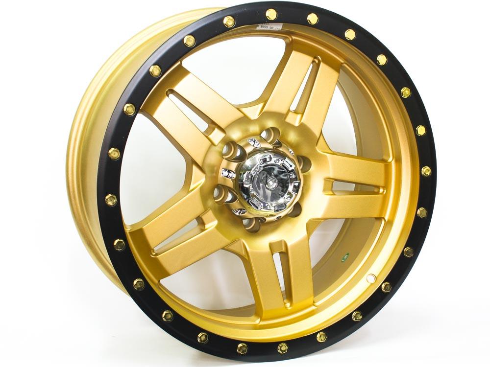 20″ R-Line 0411 6/139 Gold Alloy Wheels