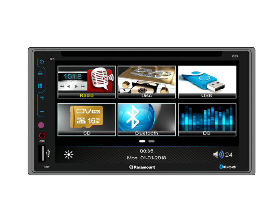Paramount ZS6040BT Double Din Multimedia System