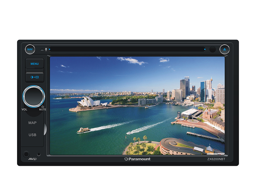 Paramount ZX6200NBT Double Din DVD with Bluetooth/USB