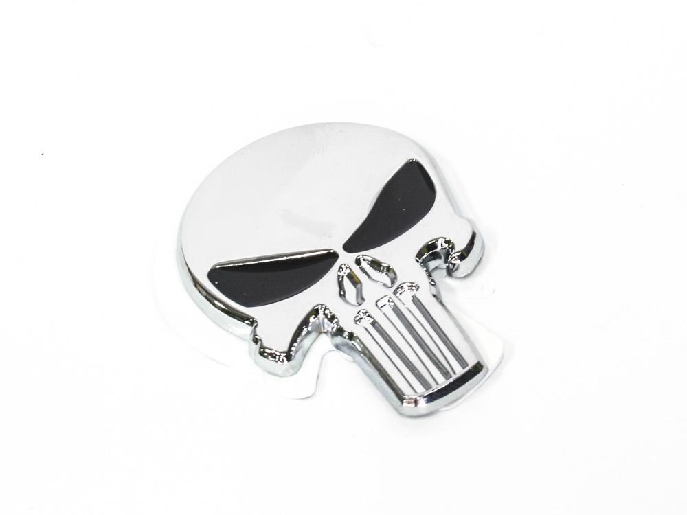 Punisher Skull Design chrome Badge