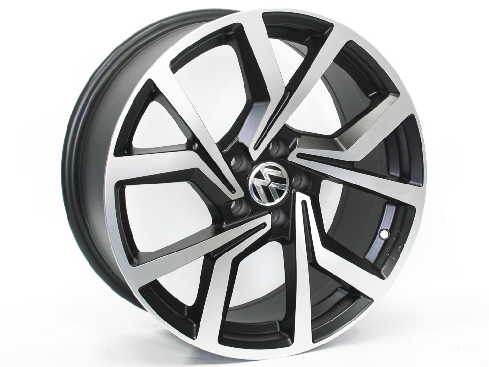 19″ BK5125 5/112 Matt Black Machine Polish Wheels